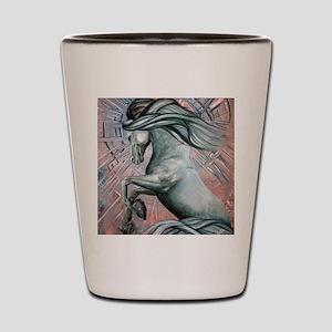 Blue Horse 10 Shot Glass