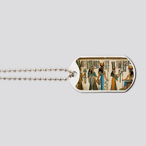 Ancient Egyptian Wall Tapestry Dog Tags