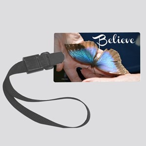 Believe Butterfly Large Luggage Tag