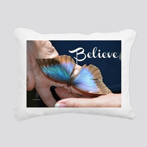 Believe Butterfly Rectangular Canvas Pillow