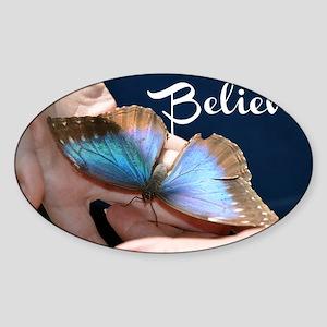 Believe Butterfly Sticker (Oval)
