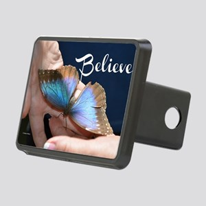 Believe Butterfly Rectangular Hitch Cover