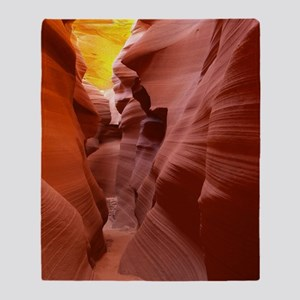 The Lower Antelope Slot Canyon Throw Blanket