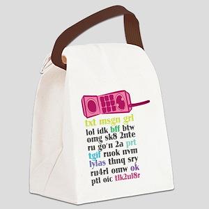 Princess Phone Canvas Lunch Bag