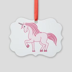 Pink Unicorn Picture Ornament
