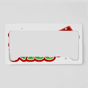 Naughty AND Nice Christmas De License Plate Holder