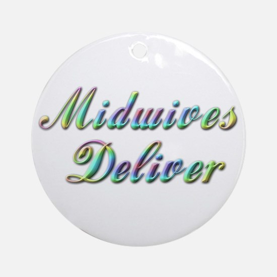 Deliver With This Ornament (Round)