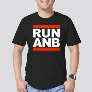 RUN ANB Men's Fitted T-Shirt (dark)
