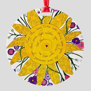 Sat Nam Round Ornament