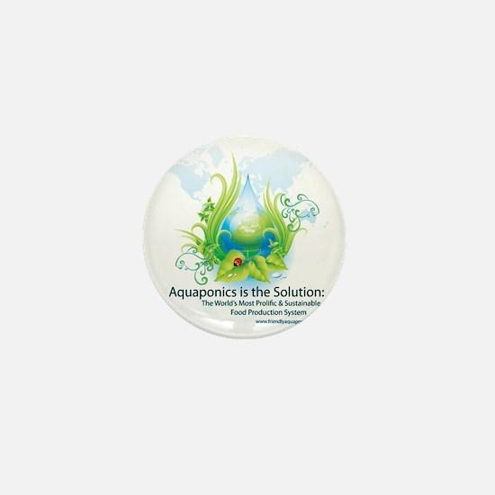 Friendly Aquaponics Earth Drop Solutio Mini Button