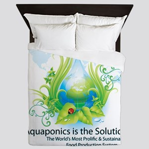 Friendly Aquaponics Earth Drop Solutio Queen Duvet