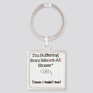Meant all Square Keychain