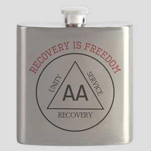 Recovery Is Freedom Flask