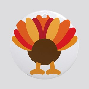 Turkey Face, Gobble Gobble Gobble F Round Ornament