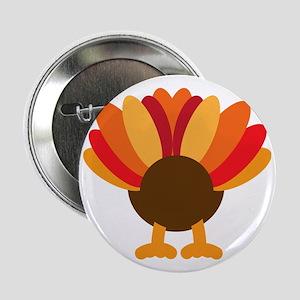 "Turkey Face, Gobble Gobble Gobble Fun 2.25"" Button"
