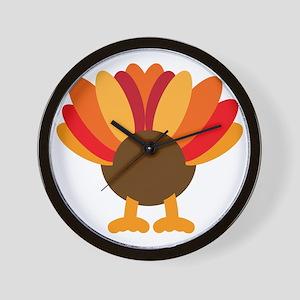 Turkey Face, Gobble Gobble Gobble Funny Wall Clock