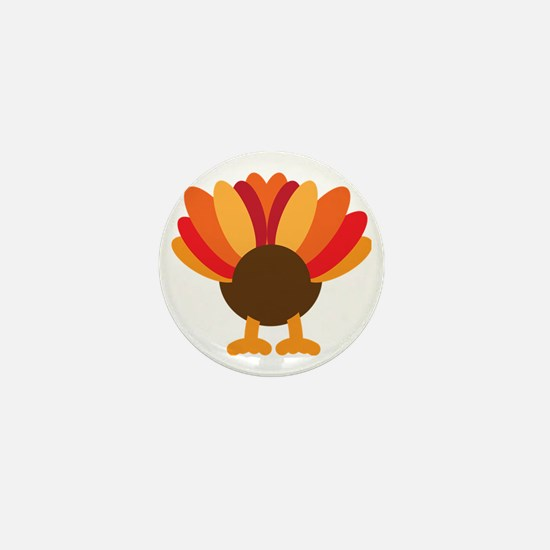 Turkey Face, Gobble Gobble Gobble Funn Mini Button