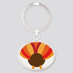 Turkey Face, Gobble Gobble Gobble Fu Oval Keychain