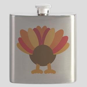 Turkey Face, Gobble Gobble Gobble Funny Butt Flask