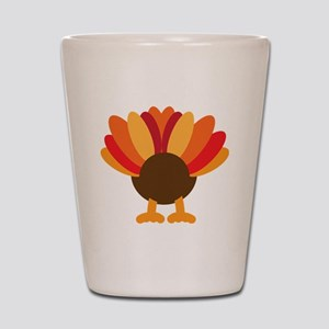 Turkey Face, Gobble Gobble Gobble Funny Shot Glass