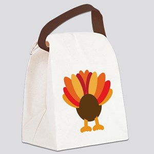 Turkey Face, Gobble Gobble Gobble Canvas Lunch Bag