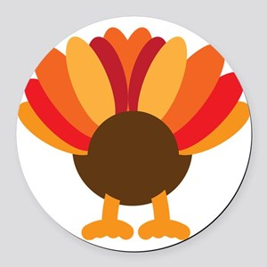 Turkey Face, Gobble Gobble Gobble Round Car Magnet