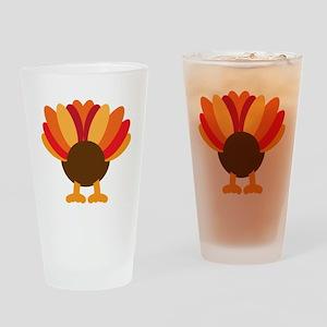 Turkey Face, Gobble Gobble Gobble F Drinking Glass
