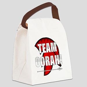 Team Oorah white logo Canvas Lunch Bag