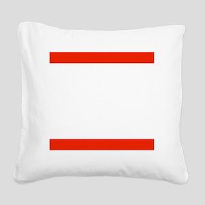 RUN TNT Square Canvas Pillow