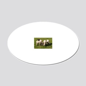 Ewe-niquely Me! 20x12 Oval Wall Decal