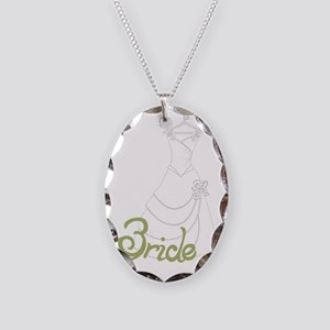 Bride Necklace Oval Charm