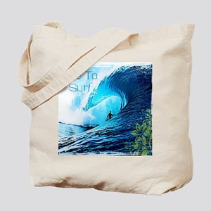 Live To Surf Tote Bag