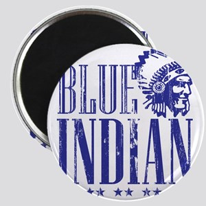 Blue Indian Head Dress Vintage Magnet