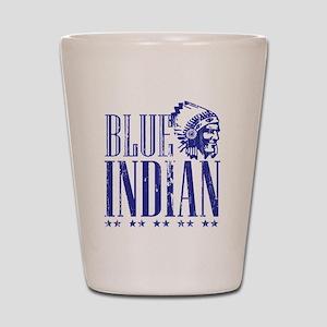 Blue Indian Head Dress Vintage Shot Glass