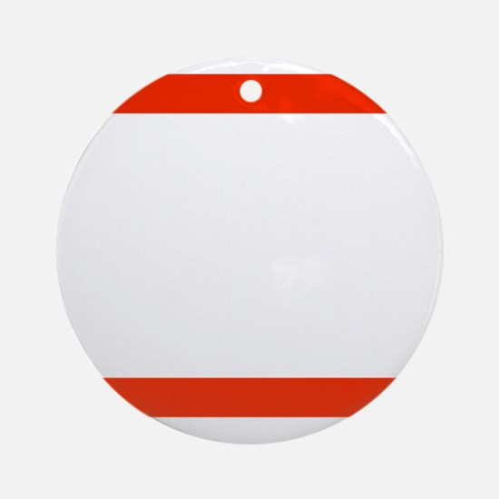 RUN SVG Round Ornament