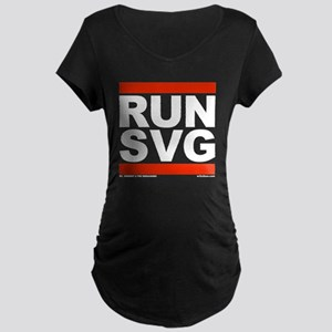 RUN SVG Maternity Dark T-Shirt
