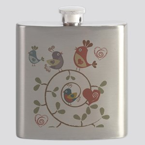 Folkart Birds Flask