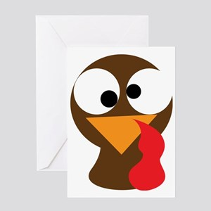 Turkey Face, Gobble Gobble Gobble Fu Greeting Card