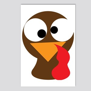 Turkey Face, Gobble Gobbl Postcards (Package of 8)