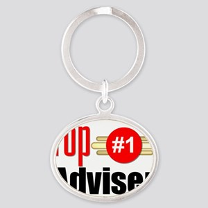 Top Adviser   Oval Keychain