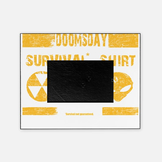 Doomsday Survival Shirt Picture Frame