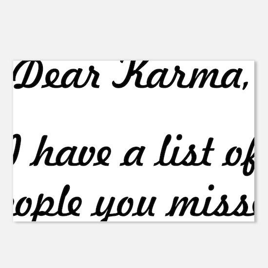 Dear Karma Postcards (Package of 8)