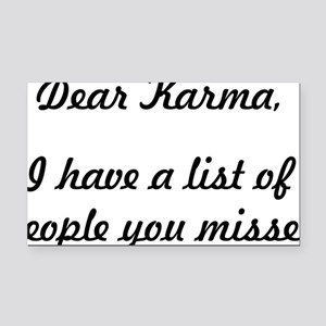 Dear Karma Rectangle Car Magnet