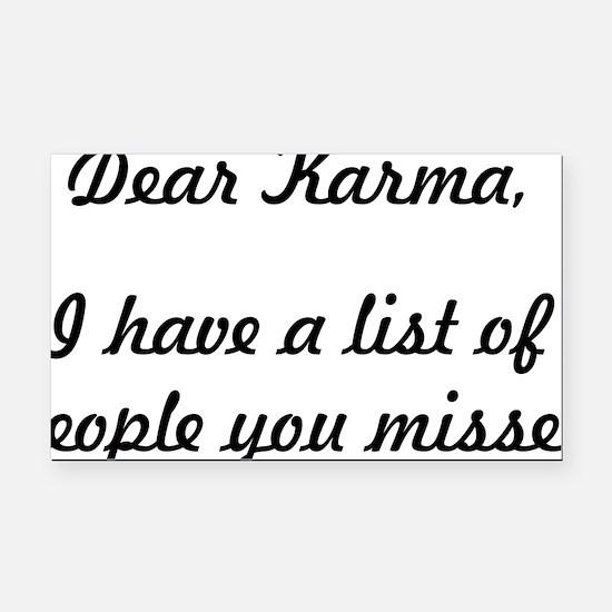 Dear Karma Rectangle Car Magnet
