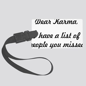 Dear Karma Large Luggage Tag