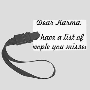 Dear Karma Large Luggage Tag