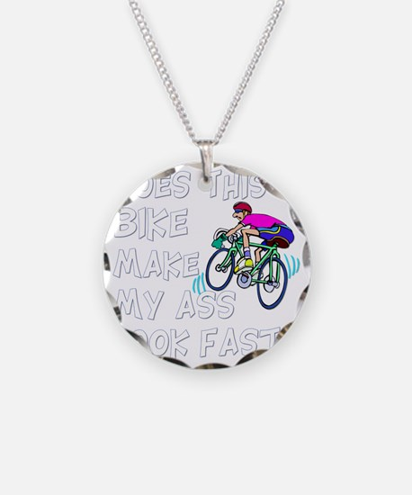 Funny Bike Saying Necklace Circle Charm