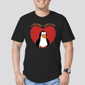 I Flippin Love You Men's Fitted T-Shirt (dark)