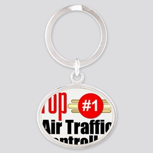 Top Air Traffic Controller   Oval Keychain