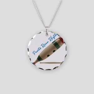 Puerto Rican Rhythm Necklace Circle Charm